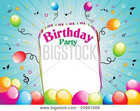 beautiful illustration for birthday party
