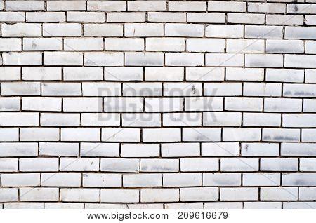 Distress Grunge Texture Of White Brick Wall