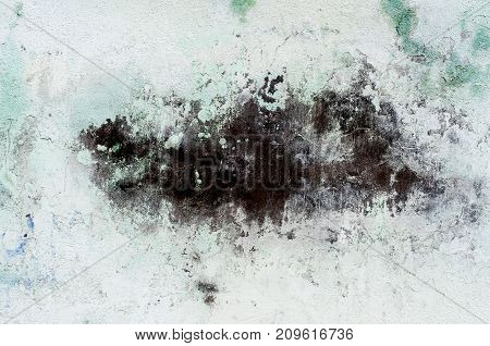 Distressed Texture. Messy Chalk Blot on a light color grunge plaster texture.