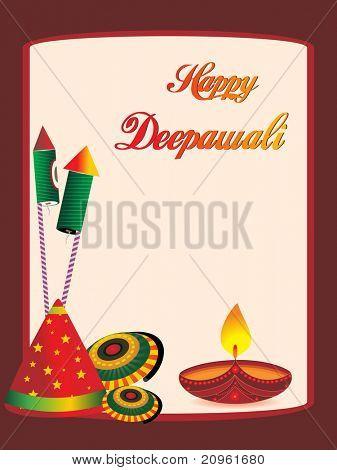 beautiful greeting cards for diwali celebration