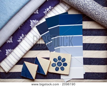 Blue & White Interior Decoration Plan