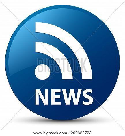 News (rss Icon) Blue Round Button