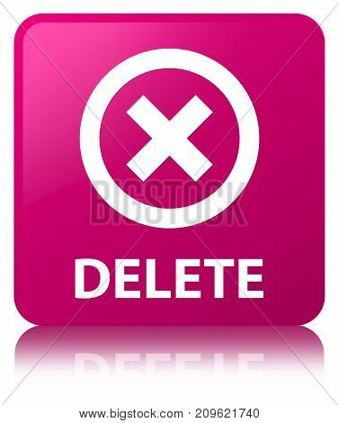 Delete Pink Square Button