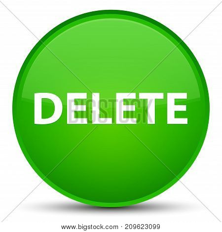 Delete Special Green Round Button