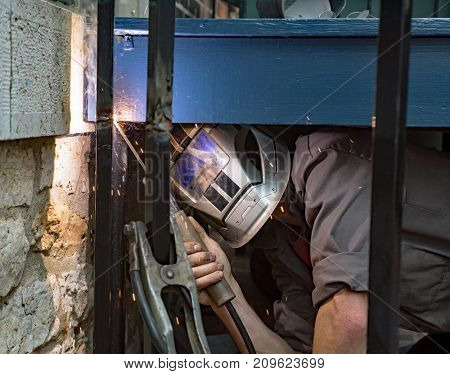 Welding from Difficult Place