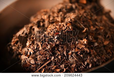Home health tea herbal collection close up