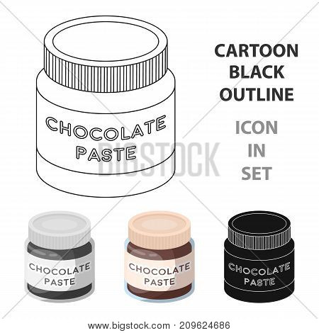 Chocolate paste icon in cartoon design isolated on white background. Chocolate desserts symbol stock vector illustration.