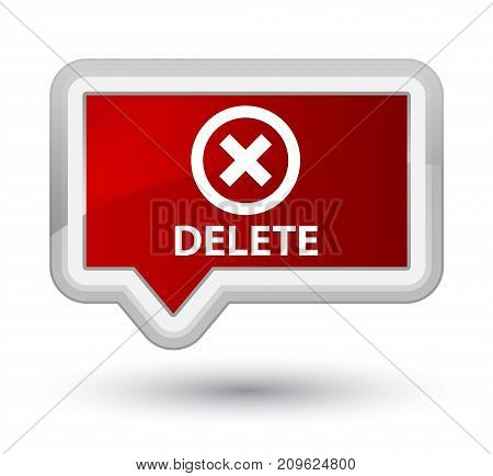 Delete Prime Red Banner Button