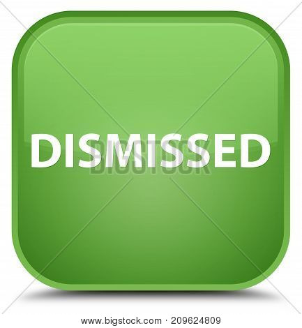 Dismissed Special Soft Green Square Button