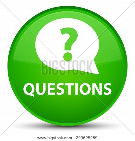 Questions (bubble Icon) Special Green Round Button