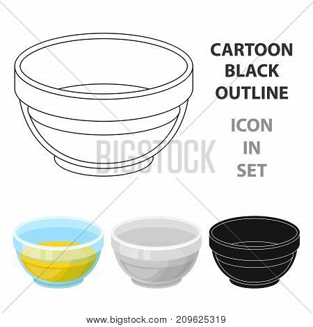 Bowl of oil.Olives single icon in cartoon style vector symbol stock illustration .