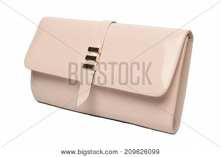 pink luxury bag photo with white background