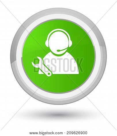 Tech Support Icon Prime Soft Green Round Button