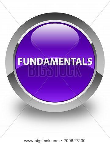 Fundamentals Glossy Purple Round Button
