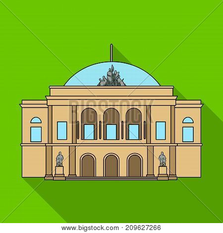 Building, single icon in flat style.Building vector symbol stock illustration .