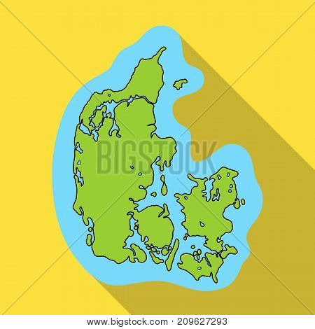 Country, single icon in flat style.Country, vector symbol stock illustration .