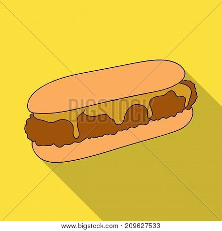 Pastry, single icon in flat style.Pastry, vector symbol stock illustration .