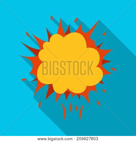 Explosion, single icon in flat style.Explosion, vector symbol stock illustration .