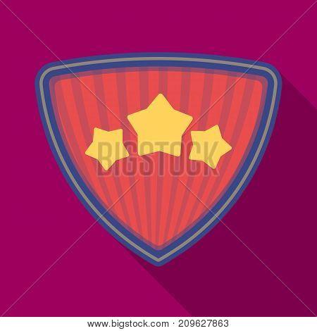 Shield, single icon in flat style.Shield, vector symbol stock illustration .