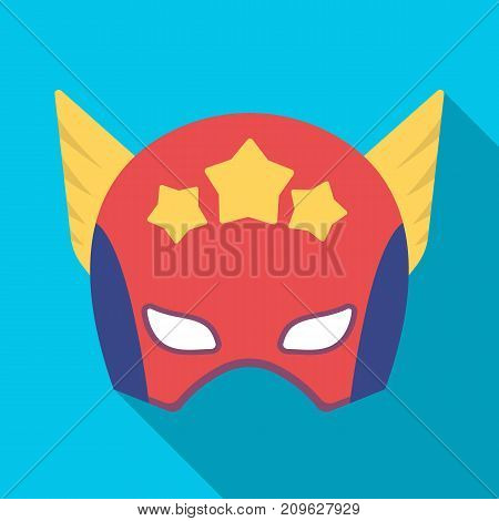 Helmet, single icon in flat style.Helmet, vector symbol stock illustration .