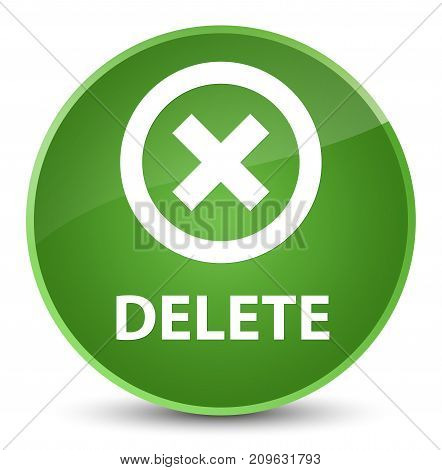 Delete Elegant Soft Green Round Button