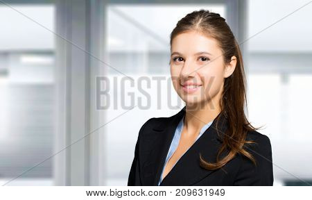Young female manager portrait