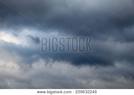 Dark And Grey Clouds Found In The Sky