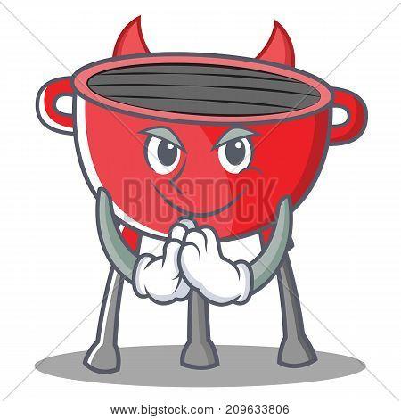 Devil Barbecue Grill Cartoon Character Vector Illustration