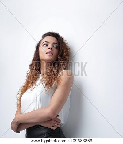 bottom view.stylish business woman