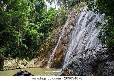 Na Muang Waterfall on Koh Samui in Thailand