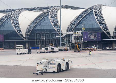 Bangkok, Thailand - June 15, 2017: New Bangkok International Airport Suvarnabhumi in Thailand