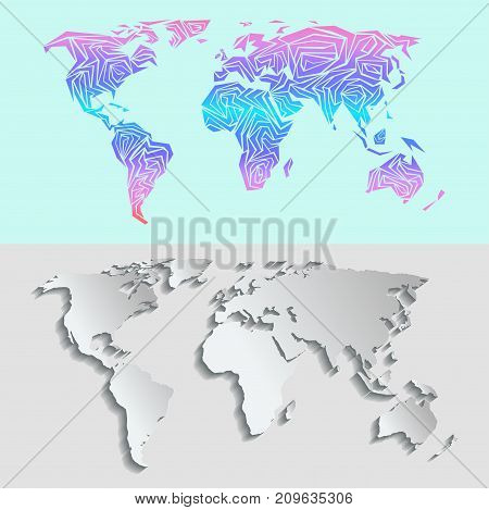 Maps globe earth contour outline vector photo bigstock maps globe earth contour outline silhouette world mapping texture vector illustration international art worldwide global gumiabroncs Images