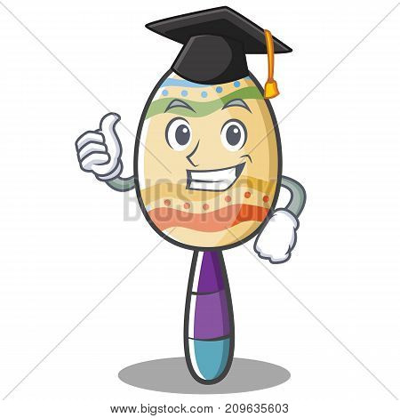 Graduation maracas character cartoon style vector illustration