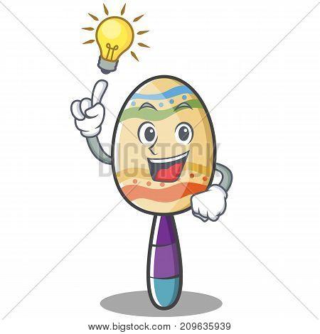 Have an idea maracas character cartoon style vector illustration