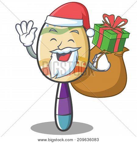 Santa maracas character cartoon style vector illustration