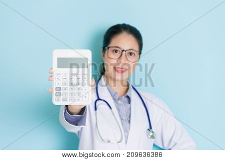 Smiling Confident Woman Doctor Looking At Camera