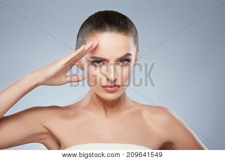 Woman Saluting With Hand