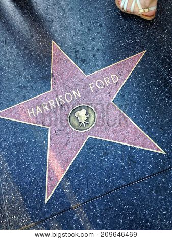 Harrison Ford Hollywood Walk Of Fame Star.