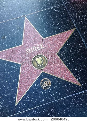 Shrek Hollywood Walk Of Fame Star.