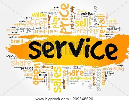 Service Word Cloud Collage