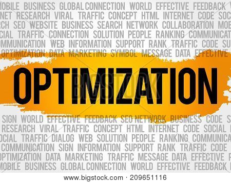 Optimization Word Cloud Collage