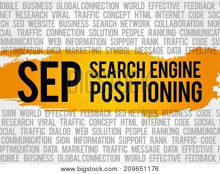Sep (search Engine Positioning) Word Cloud