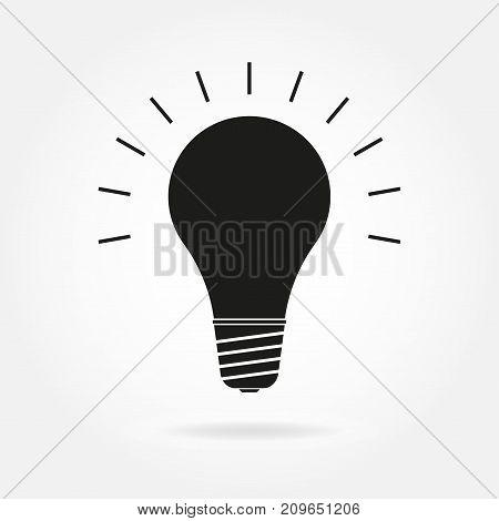 Lamp icon. Vector illustration of bulb lamp.
