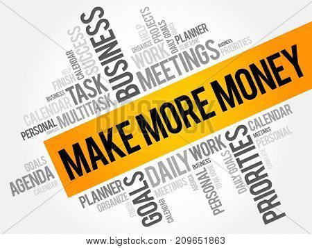 Make More Money Word Cloud Collage
