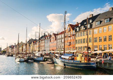 Nyhavn Pier In Copenhagen, Denmark