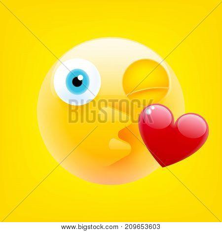 Face Blowing A Kiss. Kissing Face Emoji