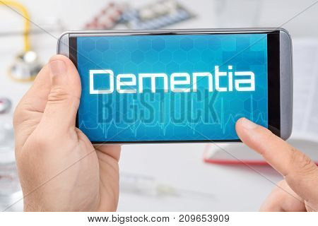 Smartphone With The Text Dementia On The Display