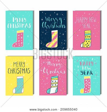 Christmas Greeting Card With Envelope Made In Vector.