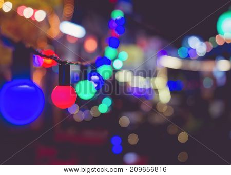 Light bulbs Party decoration Festival Event outdoor Holiday Background