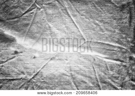 White Soft Cloth Surface As Background. Abstract White Texture. Closeup View. Darker From The Centre